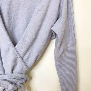 Free People Tops - Free People Crop Wrap Tie Top Shirt Athleisure